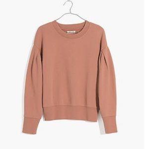 Madewell pleated sleeve sweatshirt